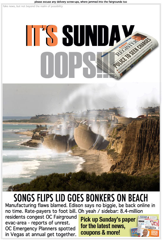San Onofred Nuclear Generating Station danger