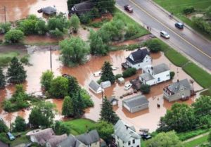 Duluth flooded, climate haywire