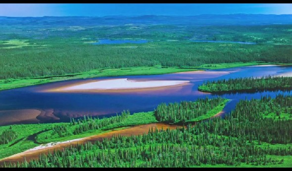 threatened by the athabascan oil sands, tar sands, Alberta, Athabasca River, Canada, Boreal Forest