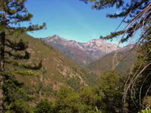 the rugged backcountry of the Los Padres National Forest
