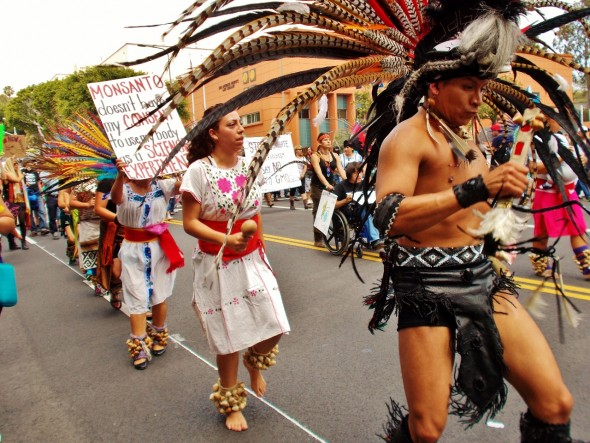 March Against Monsanto Los Angeles Aztec Dancers